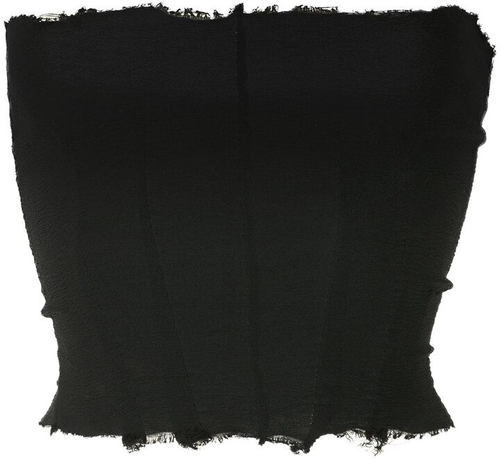 Thumbnail for your product : Marc Le Bihan Tulle-Panelled Strapless Dress