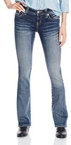 Miss Me Junior's Mid Rise Bootcut Jean with Embellishments