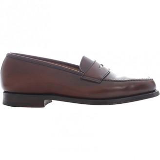 Crockett Jones Crockett& Jones Brown Leather Flats