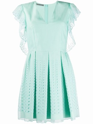 Alberta Ferretti Embroidered Shift Dress