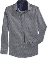 Sean John Men's Big & Tall Deco Print Long-Sleeve Shirt