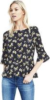 Banana Republic Flutter Sleeve Floral Top
