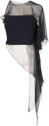 Cushnie One Shoulder Asymmetrical Top