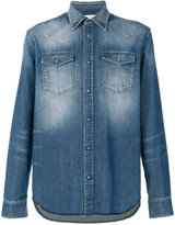 Maison Margiela bleach effect denim shirt - men - Cotton - 39