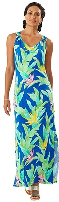 Tommy Bahama Nirvana Night Sleeveless Maxi Dress (Turkish Sea) Women's Dress
