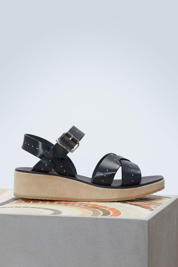 A.P.C. Odette leather sandals