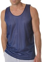 Badger B8529 Reversible Mesh Tank - Navy / White BD8529 L