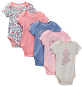 Lucky Brand Butterfly Flowers Bodysuit Pack - Pack of 5 (Baby Girls)