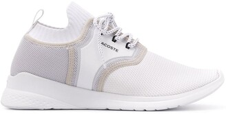 Lacoste mesh panel ribbed detail sneakers