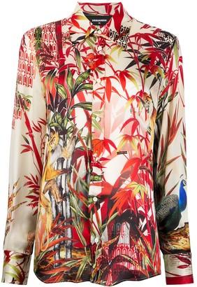 DSQUARED2 Jungle print shirt