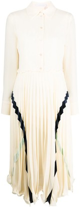 See by Chloe Pleated Shirt Dress