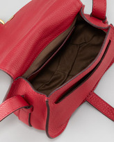 Chloé Marcie Mini Saddle Bag, Peony Red