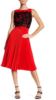 Eva Franco Claudette Lace Accordion Pleat Dress