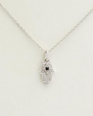 Judith Ripka La Petite Silver 0.11 Ct. Tw. Black Onyx Pendant Necklace