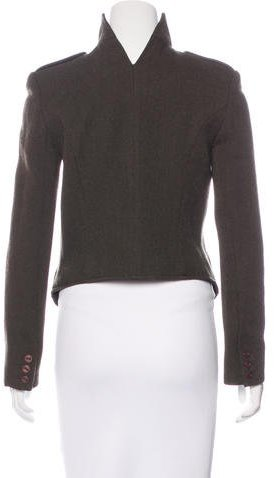 Theyskens' Theory Cropped Wool Jacket