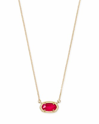 Kendra Scott Ember Necklace in Bronzed Veined Turquoise 14k Gold-Plated