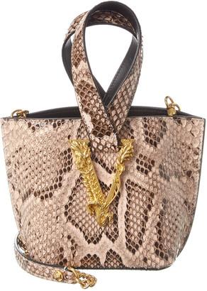 Versace Small Python Shoulder Bag
