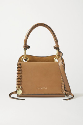 See by Chloe Tilda Mini Whipstiched Suede And Leather Tote - Light brown
