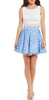 Jodi Kristopher Lace Tank to Polka Dot Skirt Two-Piece Dress