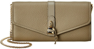 Chloé Aby Leather Wallet On Chain