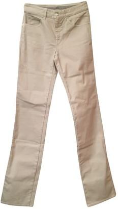Armani Collezioni Ecru Cotton Jeans for Women