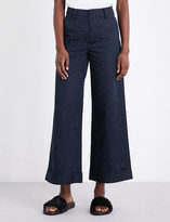 Mo&Co. Wide-leg cotton trousers