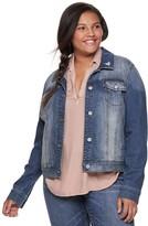 Mudd Juniors' Plus Size Denim Jacket