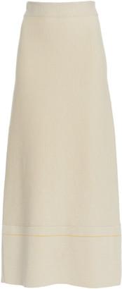 Victoria Beckham A-Line Cotton-Blend Skirt