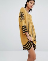 Vila Embroidered Tunic Dress
