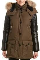 Mackage Cynthia Leather-trim Down Coat.