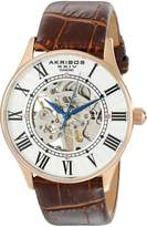 Akribos XXIV Men's AK499RG Bravura Slim Mechanical Leather Strap Watch