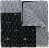 Alexander McQueen spotted skull border pocket square - men - Silk - One Size