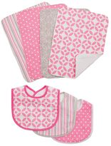 Trend Lab Lauren Lily Logan 7-pc. Bib & Burp Cloth Set