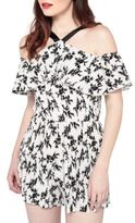 Miss Selfridge Printed Plisse Halter Playsuit