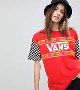 Vans Exclusive T-Shirt With Checkerboard Sleeve