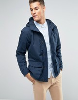 Jack Wills Jacket With Hood In Canvas Navy
