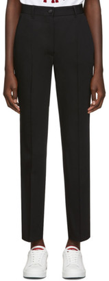 Dolce & Gabbana Black Straight Trousers
