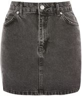 Topshop MOTO Grey Denim Mini Skirt