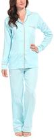 Malabar Bay Spa Blue & Coral Organic Cotton Sateen Pajama Set