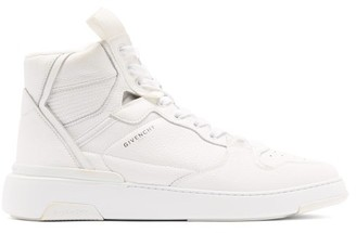 Givenchy Wing Grained-leather High-top Trainers - White