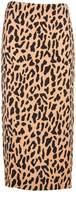 Diane von Furstenberg Leopard Print Long Skirt