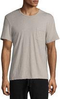 James Perse Mélange Cotton-Linen Pocket T-Shirt