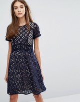 Oasis Premium Lace Skater Dress