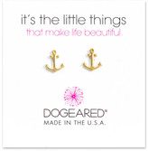 Dogeared 14K Gold Plated Sterling Silver Anchor Stud Earrings