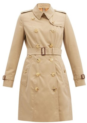 Burberry Chelsea Cotton-gabardine Trench Coat - Beige