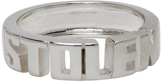 Stolen Girlfriends Club Silver Mini Stolen Block Ring