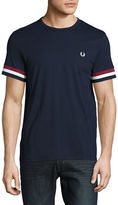 Fred Perry Striped Cuff Crew Neck T-Shirt