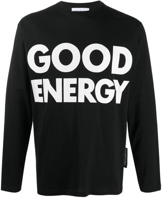 Moschino Cotton Slogan Long Sleeve T-Shirt