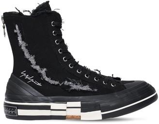 Yohji Yamamoto Xvessel Slash Canvas High-Top Sneakers