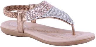 Selina Women's Sandals CHAMPAGNE - Champagne Rhinestone Ankle-Strap Sandal - Women